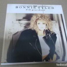 Discos de vinilo: BONNIE TYLER (SINGLE) HIDE YOUR HEART AÑO 1988 - PROMOCIONAL. Lote 262484825