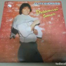 Discos de vinilo: CLIFF RICHARD (SINGLE) DREAMIN' AÑO 1980. Lote 262485350