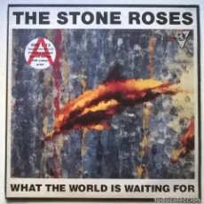 Discos de vinilo: THE STONE ROSES. WHAT THE WORLD IS WAITING FOR. SILVERTONE, UK 1989 MAXI-LP 12'' + ENCARTE. Lote 262488285