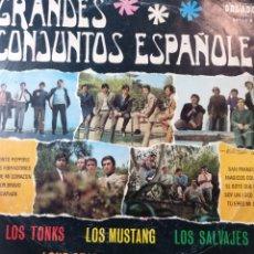 Discos de vinilo: GRANDES CONJUNTOS ESPAÑOLES. ** TONKS. MUSTANGS. SALVAJES. JAVALOYAS. LONE STAR. **. Lote 262513975
