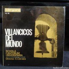 Discos de vinilo: SCHOLA CANTORUM UNIVERSITARIA, ERNEST CERVERA - VILLANCICOS DEL MUNDO 1965. Lote 262530740