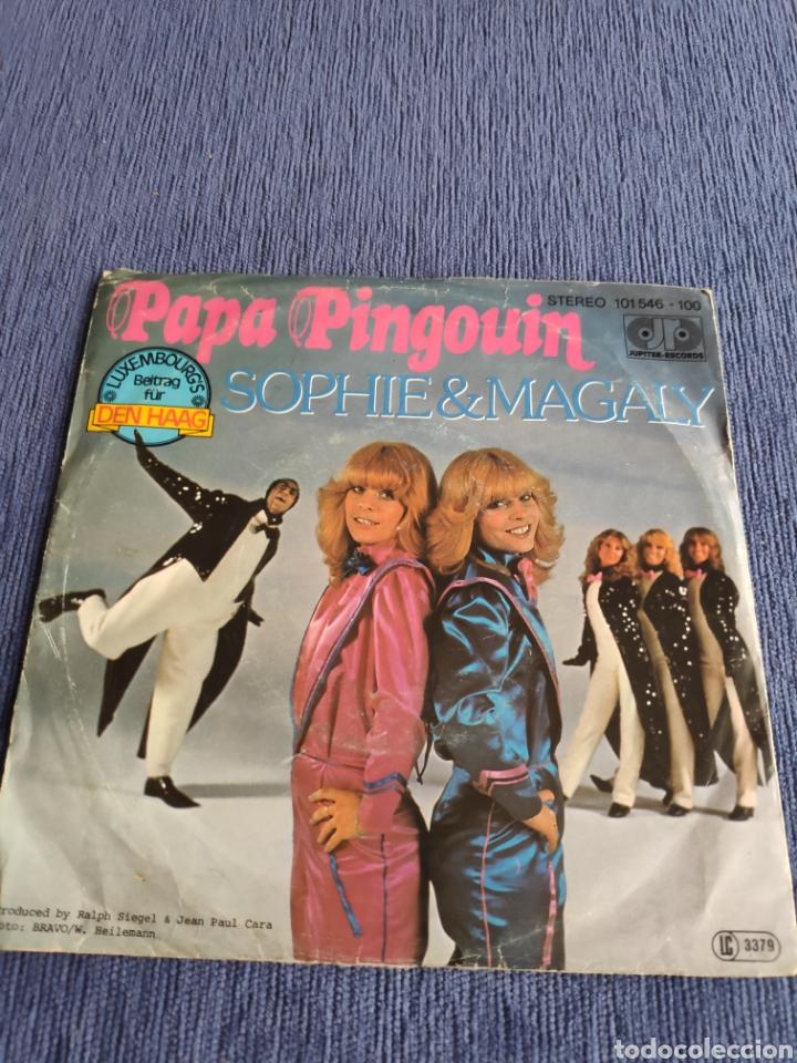 SINGLE VINILO EUROVISIÓN - SOPHIE & MAGALY - PAPA PINGOUIN + (Música - Discos - Singles Vinilo - Festival de Eurovisión)