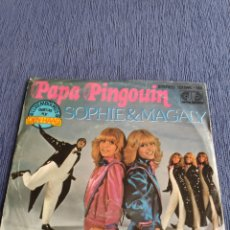 Dischi in vinile: SINGLE VINILO EUROVISIÓN - SOPHIE & MAGALY - PAPA PINGOUIN +. Lote 262543795