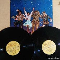 Discos de vinilo: THE WIZ · ORIGINAL MOTION PICTURE SOUNDTRACK · ALBUM DOBLE MCA RECORDS MOTOWN 1978, SPAIN GATEFOLD. Lote 262544135