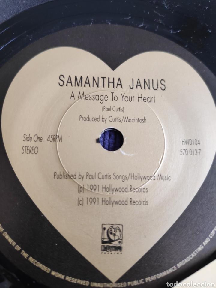 Discos de vinilo: Vinilo single - Eurovision - Samantha Janus - A message to your heart - Foto 4 - 262544490