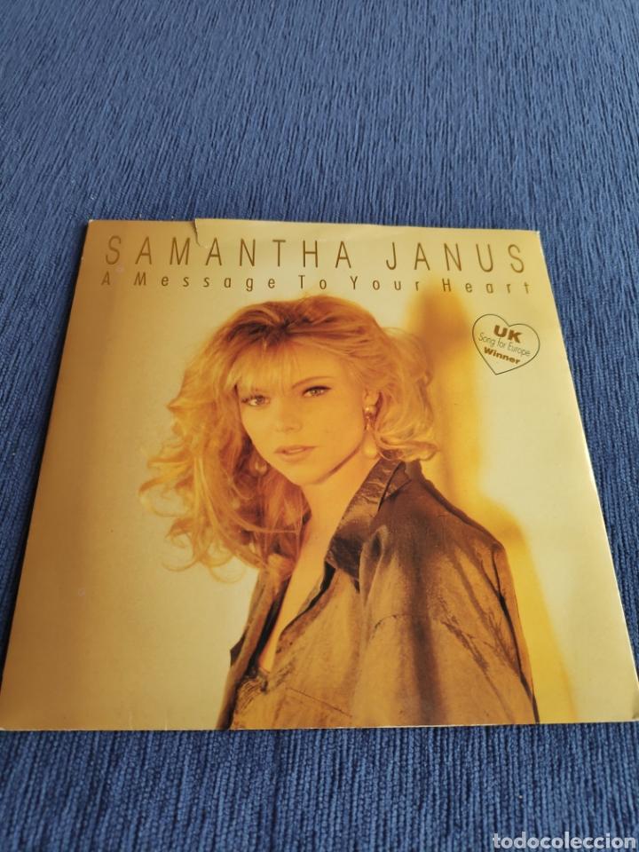 VINILO SINGLE - EUROVISION - SAMANTHA JANUS - A MESSAGE TO YOUR HEART (Música - Discos - Singles Vinilo - Festival de Eurovisión)