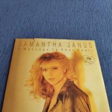 Discos de vinilo: VINILO SINGLE - EUROVISION - SAMANTHA JANUS - A MESSAGE TO YOUR HEART. Lote 262544490