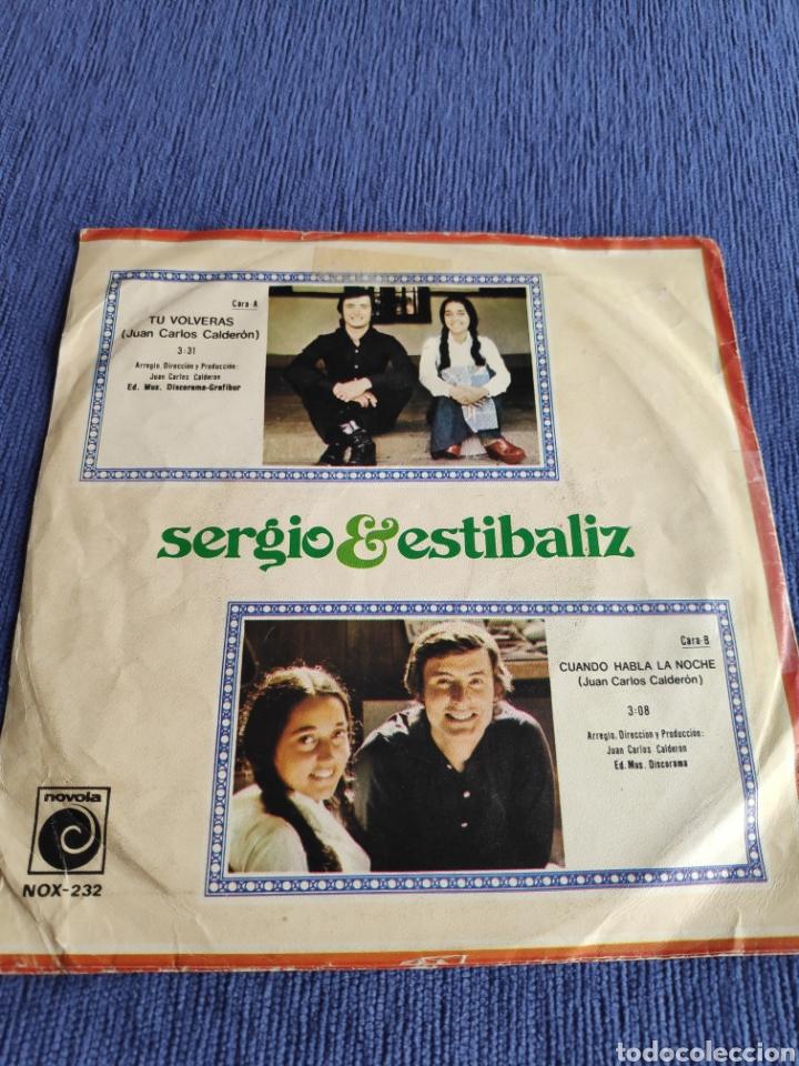 Discos de vinilo: Vinilo single Eurovision 1975 - Sergio y Estíbaliz - Tu Volverás - Foto 2 - 262549350