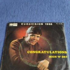Discos de vinilo: VINILO SINGLE EUROVISIÓN 1968 - CLIFF RICHARDS - CONGRATULATIONS. Lote 262552465