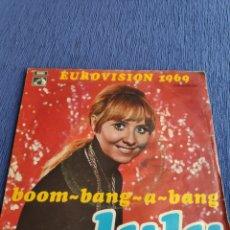 Discos de vinilo: SINGLE VINILO EUROVISION - LULU - BOOM BOOM BANG A BANG. Lote 262552885