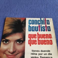 Discos de vinilo: SINGLE VINILO EUROVISION EP - CONCHITA BAUTISTA - QUE BUENO, QUE BUENO. Lote 262554525