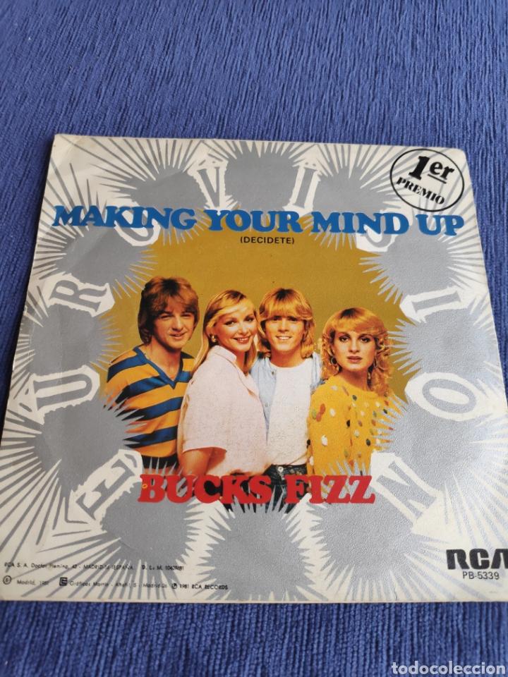Discos de vinilo: Single vinilo Eurovisión - Bucks Fizz - Making your mind up - Foto 2 - 262555750
