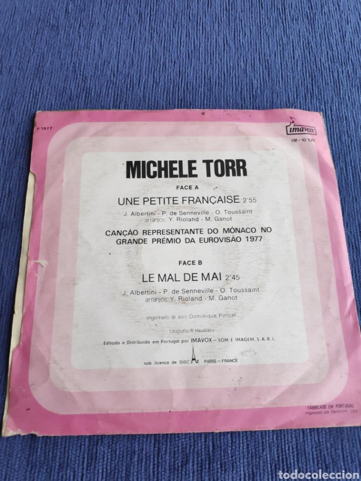 Discos de vinilo: Single vinilo Eurovision 1977 - Michele Torr - Une petite française - Edición Portugal - Foto 2 - 262561315