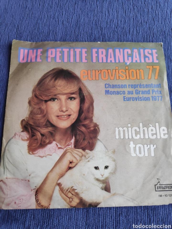 SINGLE VINILO EUROVISION 1977 - MICHELE TORR - UNE PETITE FRANÇAISE - EDICIÓN PORTUGAL (Música - Discos - Singles Vinilo - Festival de Eurovisión)