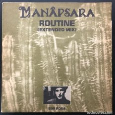 Discos de vinilo: MANAPSARA ROUTINE SUB ROSA SUB 12006-23 BELGIUM 1988 MAXI VINILO EX ACID HOUSE, EBM, NEW BEAT. Lote 262561435