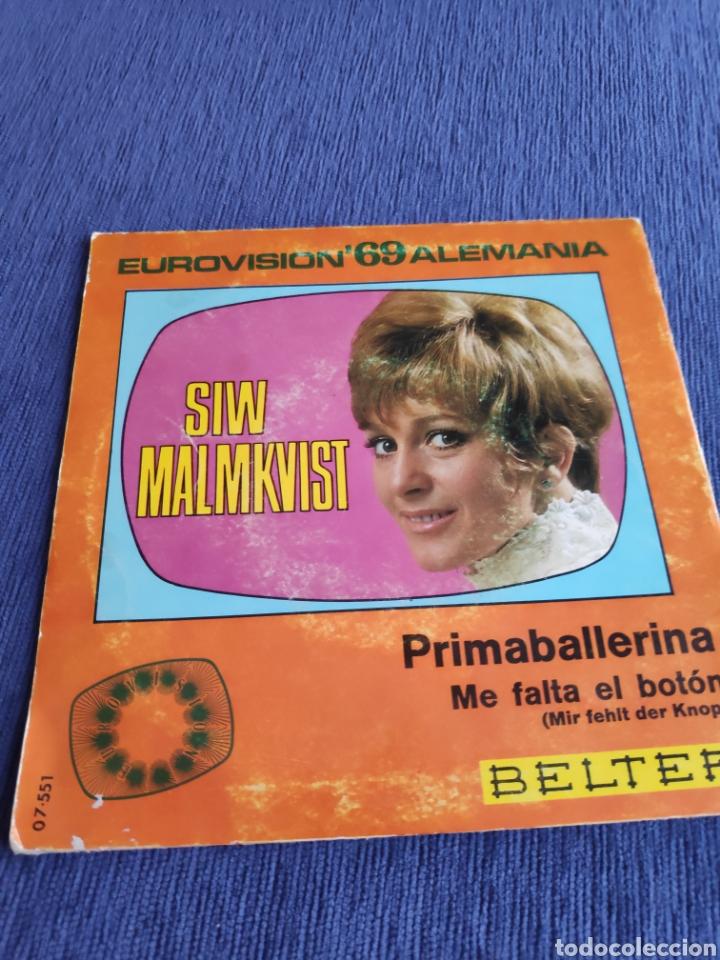 Discos de vinilo: Single vinilo Eurovision - Siw Malmkvist - Primaballerina - Foto 2 - 262562105