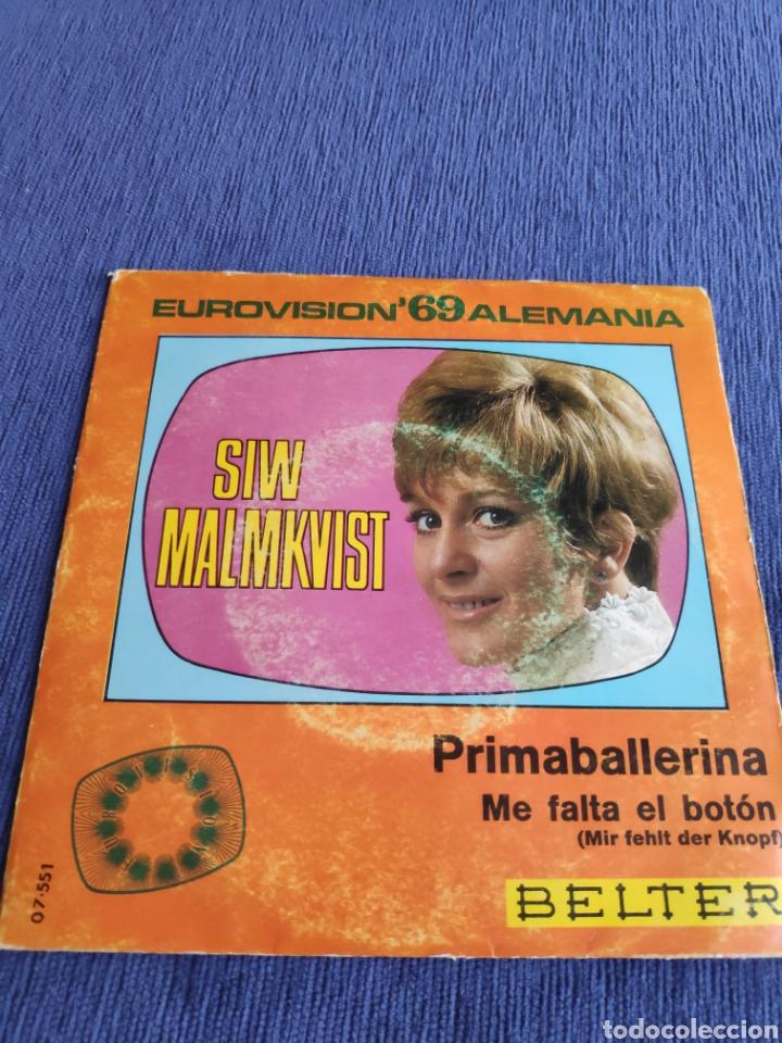 SINGLE VINILO EUROVISION - SIW MALMKVIST - PRIMABALLERINA (Música - Discos - Singles Vinilo - Festival de Eurovisión)