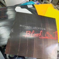 Discos de vinilo: MICHAEL JACKSON DOBLE MAXI BLOOD ON THE DANCE FLOOR CON POSTER 1997. Lote 262562710