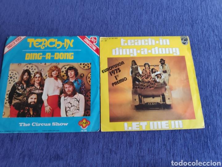 Discos de vinilo: Singles vinilo Eurovision 1975 - Teach-in - Ding a dong - Edición española y holandesa - Foto 2 - 262563785