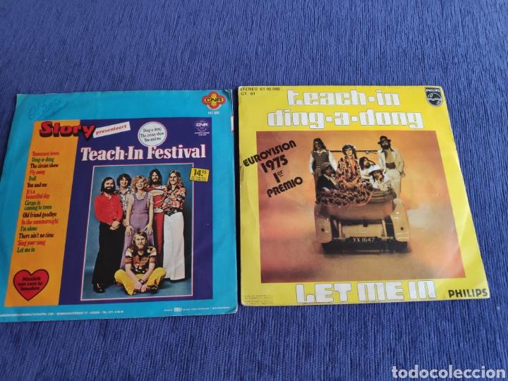 SINGLES VINILO EUROVISION 1975 - TEACH-IN - DING A DONG - EDICIÓN ESPAÑOLA Y HOLANDESA (Música - Discos - Singles Vinilo - Festival de Eurovisión)