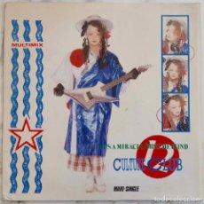 Discos de vinilo: CULTURE CLUB, IT'S A MIRACLE. MAXI SINGLE ESPAÑA 3 TEMAS. Lote 262566015