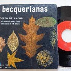 Discos de vinilo: ADOLFO DE ANCOS - (BECQUERIANAS) - SG MUSICAL PAX 1970 // BAROQUE POP RAFAEL FERRO. Lote 41586294