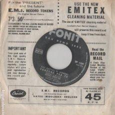 Discos de vinilo: 45 GIRI SERGIO ENDDRIGO CANZONE PER TE /IL PRIMO BICCHIERE DI VINO SP 1380 TONIT SANREMO 1968 NO COV. Lote 262578300