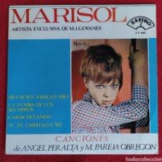 Discos de vinilo: MARISOL RARO EP 1965 SILENCIO CABALLO MIO/ LA ZUMBA DE LOS BECERROS +2 ANGEL PERALTA PAREJA OBREGON. Lote 262581730