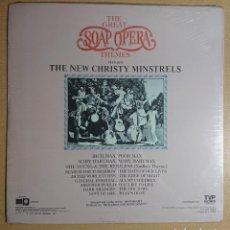 Discos de vinilo: THE GREAT SOAP OPERAS THEMES · THE NEW CHRIST MINISTRELS · PRECINTADO! NUEVO POR ABRIR US 1976. Lote 262586985