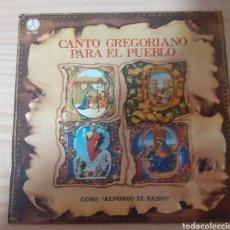 Dischi in vinile: CANTO GREGORIANO PARA EL PUEBLO. Lote 262595125