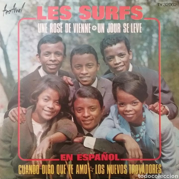 LES SURFS. EP. SELLO DISQUES FESTIVAL. EDITADO EN ESPAÑA. AÑO 1967 (Música - Discos de Vinilo - EPs - Funk, Soul y Black Music)