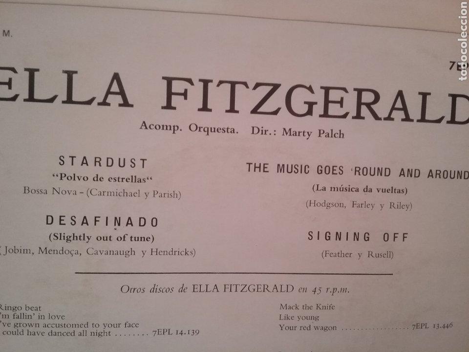 Discos de vinilo: ELLA FITZGERALD. EP. SELLO LA VOZ DE SU AMO . EDITADO EN ESPAÑA. AÑO 1963 - Foto 2 - 262605020