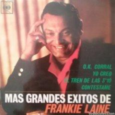 Discos de vinilo: FRANKIE LAINE. EP. SELLO CBS . EDITADO EN ESPAÑA. AÑO 1963. Lote 262609975