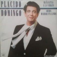 Discos de vinilo: PLÁCIDO DOMINGO. SINGLE PROMOCIONAL/ UNA CARA. SELLO CBS . EDITADO EN ESPAÑA. AÑO 1982. Lote 262620975