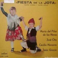 Discos de vinilo: FIESTAS DE LA JOTA. EP. SELLO ODEON. EDITADO EN ESPAÑA. AÑO 1961. Lote 262621900