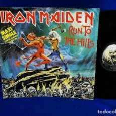"Discos de vinilo: IRON MAIDEN - RUN TO THE HILLS - MAXI 12"" PRINTED IN GERMANY 1982 -. Lote 262629750"