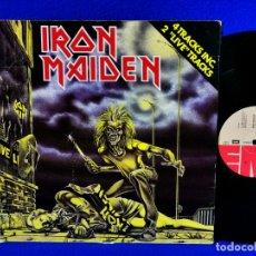 """Discos de vinilo: IRON MAIDEN - SANCTUARY - MAXI 1980 - HOLLAND - 4 TRACKS INC 2 """"LIVE"""" TRACKS - PORTADA NO CENSURADA. Lote 262638470"""