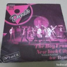 Discos de vinilo: THE DARTS (SINGLE) THE BOY FROM NEW YORK CITY AÑO 1978 - PROMOCIONAL. Lote 262643745