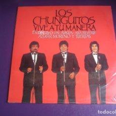 Discos de vinilo: LOS CHUNGUITOS – VIVE A TU MANERA - EN DIRECTO - DOBLE LP EMI 1988 PRECINTADO - RUMBAS POP - ALASKA. Lote 262651785