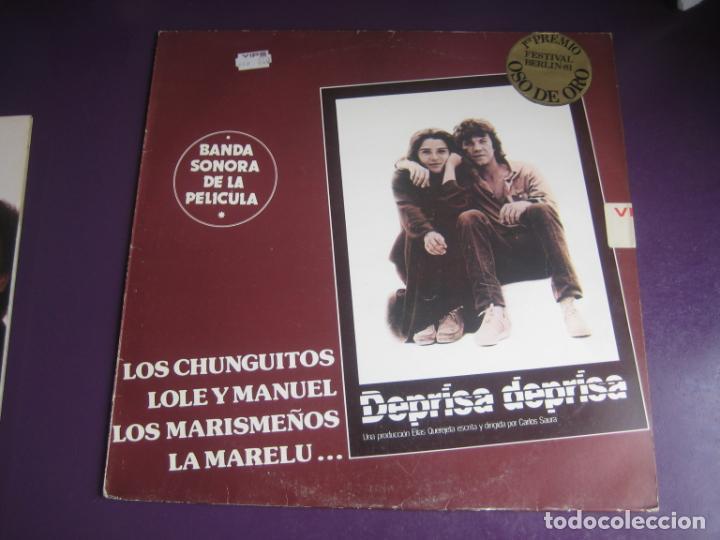 BSO DEPRISA DEPRISA - LP EMI 1981 - CHUNGUITOS - LOLE Y MANUEL - MARISMEÑOS - MARELU - ETC RUMBAS (Música - Discos - LP Vinilo - Bandas Sonoras y Música de Actores )