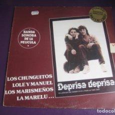 Discos de vinilo: BSO DEPRISA DEPRISA - LP EMI 1981 - CHUNGUITOS - LOLE Y MANUEL - MARISMEÑOS - MARELU - ETC RUMBAS. Lote 262652175