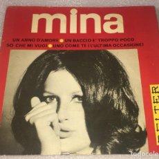 Discos de vinilo: EP MINA - UN ANNO D'AMORE Y OTROS TEMAS - BELTER 51.546 -PEDIDO MINIMO 7€. Lote 262652785