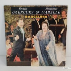 Discos de vinilo: FREDDIE MERCURY & MONTSERRAT CABALLE - BARCELONA SINGLE 1987. Lote 262652990