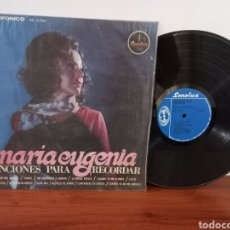 Discos de vinilo: BALADAS MARIA EUGENIA AMOR DE MIS AMORES BESAME MUCHO SOMOS ALMA MIA DESESPERADAMENTE LP VG+ RAREZA. Lote 262653210