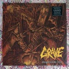 Discos de vinilo: GRAVE - DOMINION VIII 12'' LP PRECINTADO - DEATH METAL. Lote 262655920