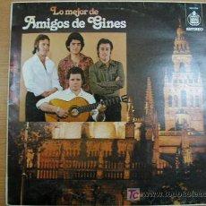 Discos de vinilo: LO MEJOR DE AMIGOS DE GINES, HISPAVOX, AÑO 1977. Lote 262665585