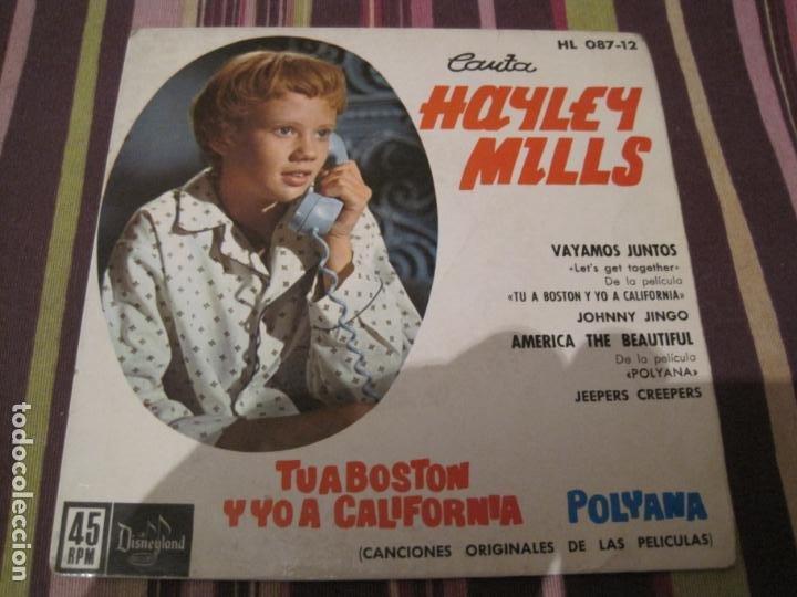EP HAYLEY MILLS TU A BOSTON Y YO A CALIFORNIA HISPAVOX 08712 (Música - Discos de Vinilo - EPs - Bandas Sonoras y Actores)