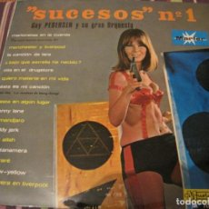 Discos de vinilo: LP SUCESOS Nº 1 GUY PEDERSEN ORQUESTA MARFER 70022 SPAIN SEXY COVER. Lote 262671550