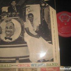 Discos de vinilo: ELLA FITZGERALD, CHICK WEBB – WITH CHICK WEBB'S BAND (ACE OF HEARTS - -1962) ORIGINAL ENGLAND. Lote 262675965