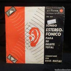Discos de vinilo: SONIDOS EN EL ESPACIO - RAUL MATAS 1963. Lote 262681530